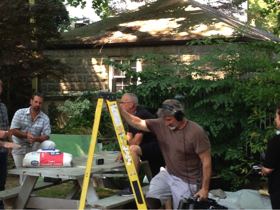 NEDC's Gregory Maugeri and Billy Della Sorte shoot segment of This Old House in Arlington MA.